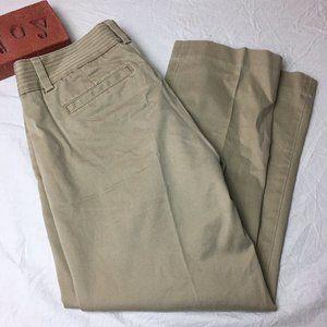 J Crew City Fit Stretch Capris Khaki Cropped Pants